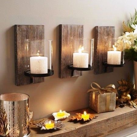 Wooden craft as candle stand